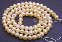 """4-5mm Pink Natural Freshwater Round Pearl Loose Beads for Jewelry Making DIY 14"""""""