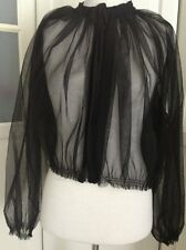 Lanvin for H&M Jacke Blouson Tüll Schwarz Jacket Black Größe / size M