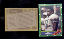 1986 Topps ROY FOSTER Miami Dolphins Rookie Card