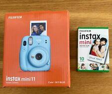 FUJIFILM INSTAX MINI 11 SKY BLUE BRAND NEW PLUS BOX OF FILM