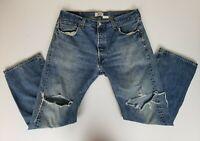 Vintage Levi's 501 Men's Jeans Size 36x30 Early 80's Single Stitch Button Fly