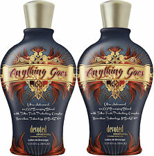 LOT OF 2 ANYTHING GOES 100XXX Dark Bronzer Indoor Tanning Bed Lotion by DC Tan
