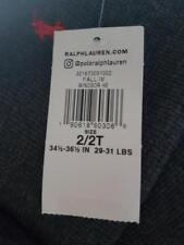 Ralph Lauren Young Boy Grey LS Top Jumper Logo Size 2 Years Polo Hoodie