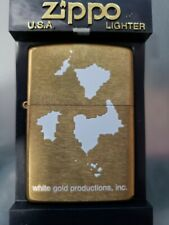 Glow in the dark White Gold Productions Zippo Never struck Ultra Rare