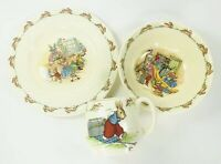 3 Piece Royal Doulton China Bunnykins Childs Set Bowl Cup Plate
