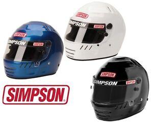 Simpson Jr Speedway Shark Helmet/Lid SFI 24.1 White or Black All Sizes - Racing
