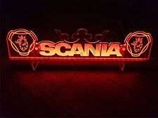 24 Volts SCANIA With 2 LOGOS AND CROWN ENGRAVED RED ILLUMINATING PLATE 24V/5W.