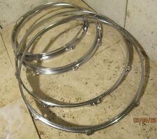 Vintage Drum Hoop Lot of (4) Drum Hoops/ Rims Parts Lot
