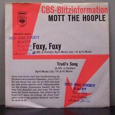 """(o) Mott The Hoople - Foxy, Foxy (CBS Blitzinformation, Promo 7"""" Single)"""