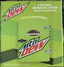 *New* Mountain Dew Drink 6-can Mini Fridge Portable Car & Home Outlet Cords