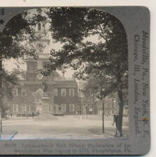 Independence Hall Where Declaration of Independence was signed Stereoview c1900