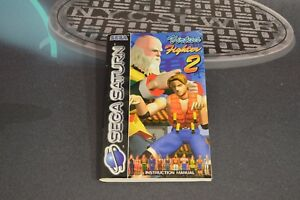 Manual Instructions Virtua Fighter 2 For Sega Saturn