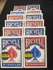 12 ct Invisible Deck Better Grip with Smoother Slip Bicycle Cards red/blue
