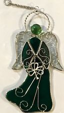 Stained Glass Green Angel  [9045-L]
