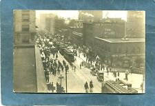 Seattle,WA-1908 GREAT WHITE FLEET PARADE Trolleys for Sailors-B.Torvanger RPPC