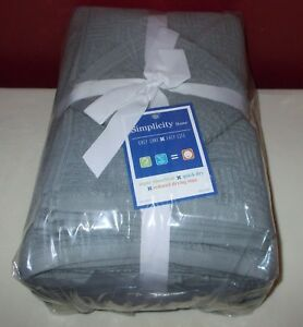Simplicity Home 6 Piece TOWEL SET GREY 100% Cotton NEW IN PACKAGE +