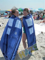 Doctor Who Tardis Door Design Blue Cotton Bath/Beach Towel 100cmX75cm for Kids
