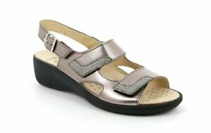 Grunland Esta SE0697 With Pewter Women's Sandals Plantar Tab Made IN Italy