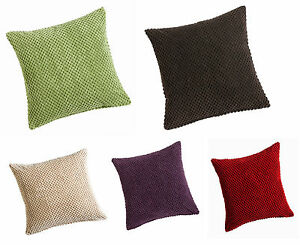 **FILLED** Soft Chenille Spots Cushion/Sofa Cushion Covers,2 Sizes & 5 Colours