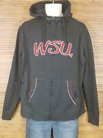 Campus Drive Gray Full Zip WSU Washington State Full Zip Hoodie Mens Size XL EUC