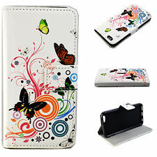 Leather Flip Wallet Style Cover Case Pouch Skin For Apple iPhone Mobile Phone
