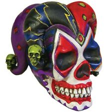Court Jester Clown Skull Skeleton Low Hot Rod Hood ornament Motorcycle Emblem