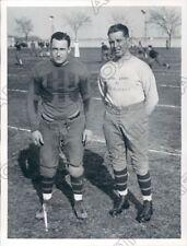 1930 Navy Midshipmen Football M A Tuttle & Edger Rip Miller Press Photo