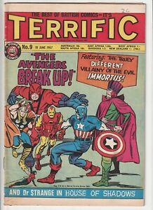 1967 Marvel IT'S TERRIFIC #9 Power Comics Oldham Press AVENGERS 10 UK IMMORTUS