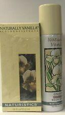 Naturistics  Naturally Vanilla  Cologne Spray 1.8 fl oz  + Body Spray 2.5 oz