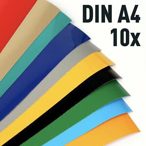 Klebefolie 10 x DIN A4 Plotterfolie, Vinylfolie - bunt gemischte Bögen / Blatt