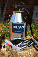 Dairy cow milker milking bucket tank 304 stainless steal by Tulsan. Ce