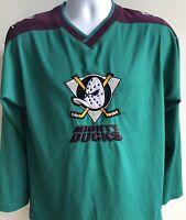 Anaheim Mighty Ducks NHL Hockey Jersey Quality Embroidered Logo Youth XL 18
