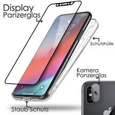 iPhone X 10 Panzerglas Crystal Transparent Handy Case Silikon Schutz Hülle Cover