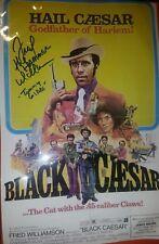 """BLACK CAESAR"" 1973 Fred Williamson Signed Poster Tommy Gibbs"