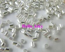 5000 pcs Silver plated crimp tube beads 1.8x1.8mm M140