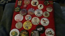 Vtg lot BEER Budweiser Schlitz Lite ADVERTISING PINBACK BUTTON New Ulm Minnesota
