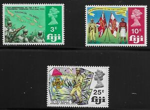 Fiji Scott #277-79, Singles 1969 Complete Set FVF MNH