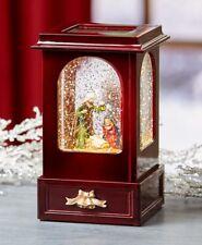 Nostalgic Light and Motion Nativity Scene Christmas Cabinet Snow Globe Keepsake
