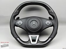Mercedes R230 SL63 P30 PERFORMANCE PACK Thick Flat Bottom CARBON Steering WHEEL
