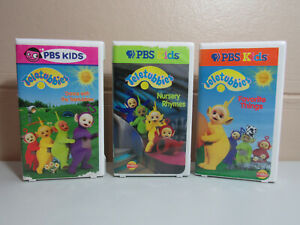 Teletubbies 3 VHS Lot Nursery Rhymes Favorite Things Dance with Teletubbies