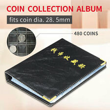 480 Coin Album Collection Book Holder Collectors Money Penny Cases Pockets