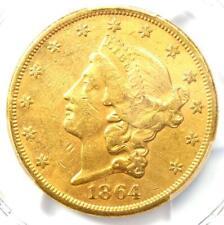 1864 Liberty Gold Double Eagle $20 1864-P - PCGS AU Detail - Rare Civil War Coin