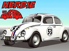 Herbie The Love Bug, Vintage Style Metal Aluminium Sign, gift, garage, car,
