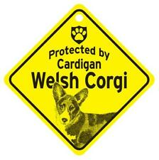 Protected by Cardigan Welsh Corgi Window Sign Made Usa
