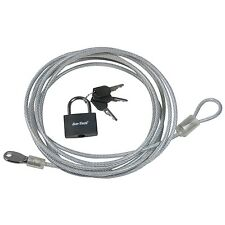 3M x 4mm Security CABLE & PADLOCK Great for Motorbikes Cycle Motorcycle