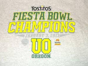 2013 Adidas  University of OREGON Fiesta Bowl Champions T Shirt Sz Small S Ducks