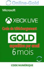 6 Mois Xbox Live Gold Abonnement Code code numérique Microsoft One/360 - FR&EU