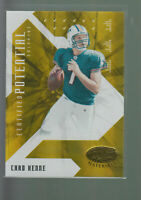 2008 LEAF CERTIFIED POTENTIAL MIRROR GOLD CHAD HENNE RC /25 MICHIGAN DOLPHINS