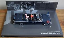 RARE!! LINCOLN CONTINENTAL X-100 ('THE KENNEDY CAR') by MINICHAMPS WITH FIGURES