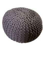 Chocolate brown knitted cord pouffe, VGC, cost £90, 18 months old